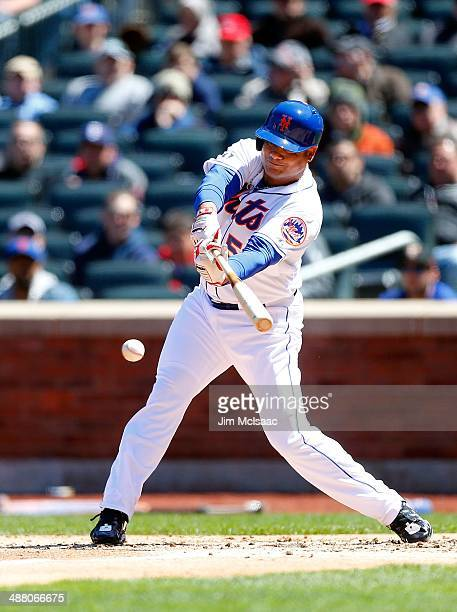 Bobby Abreu of the New York Mets in action against the St Louis Cardinals at Citi Field on April 24 2014 in the Flushing neighborhood of the Queens...