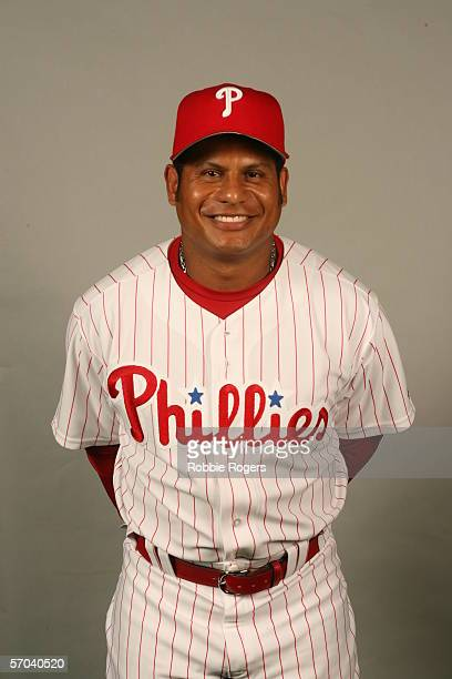 Bobby Abreu of the Philadelphia Phillies during photo day at Bright House Networks Field on February 23 2006 in Clearwater Florida