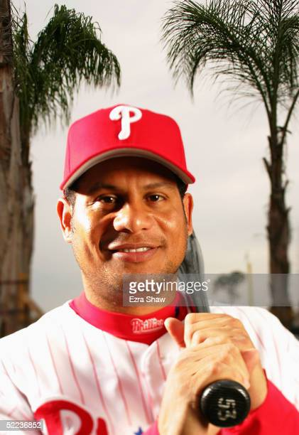 Bobby Abreu of the Philadelphia Phillies poses for a portrait during Phillies Photo Day at Bright House Networks Field on February 24, 2005 in...