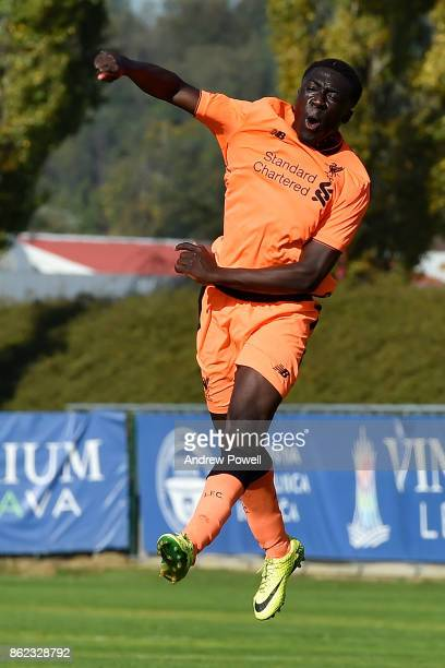 Bobby Adekanye of Liverpool celebrates after scoring the fourth goal during the UEFA Youth League group E match between NK Maribor and Liverpool FC...