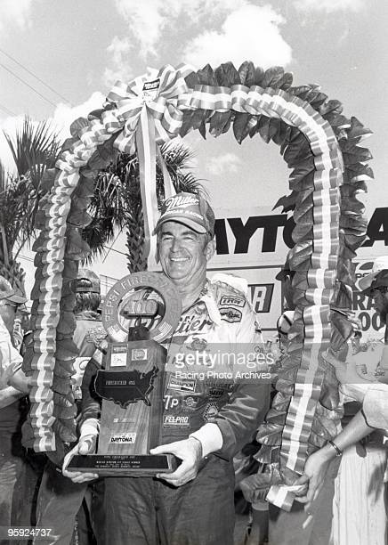 Bobby Allison celebrates in victory lane after the Pepsi Firecracker 400 Allison would take home $57375 for the race
