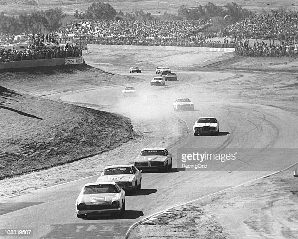 Bobby Allison driving Roger PenskeÕs AMC Matador leads the field on his way to victory in the Winston Western 500 NASCAR Cup race at Riverside...