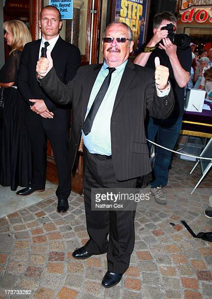 Bobby Ball attends Bernie Nolan's funeral at Grand Theatre on July 17 2013 in Blackpool England