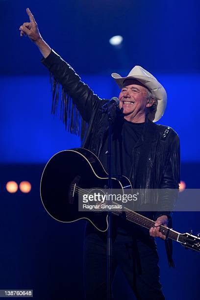 Bobby Bare performs at the final of Melodi Grand Prix 2012 The winner will represent Norway at the Eurovision Song Contest in Baku at Oslo Spektrum...