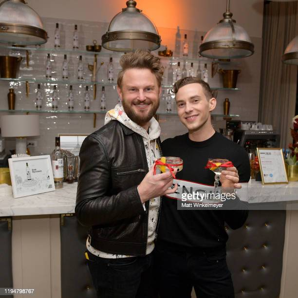 Bobby Berk and Adam Rippon celebrate Adam Rippon's 'Break The Ice' wrap party hosted by Ketel One Family Made Vodka and Portal A at Hills Penthouse...