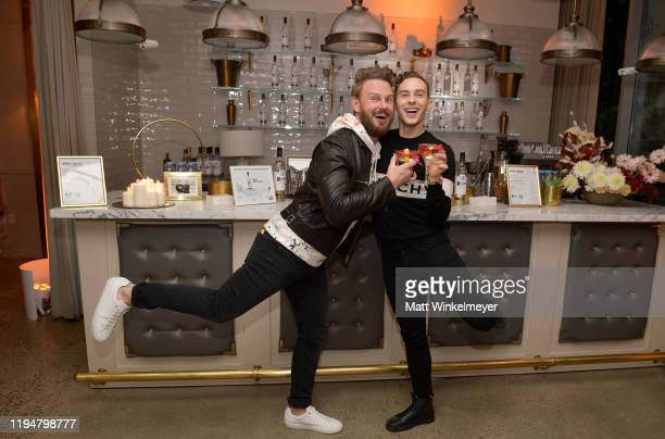 Bobby Berk and Adam Rippon celebrate Adam Rippon's 'Break The Ice' wrap party hosted by Ketel One Family Made Vodka and Portal A, at Hills Penthouse...