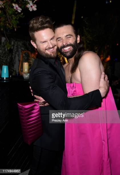 Bobby Berk and Jonathan Van Ness attend the 2019 Netflix Creative Arts Emmy After Party at Hotel Figueroa on September 15 2019 in Los Angeles...