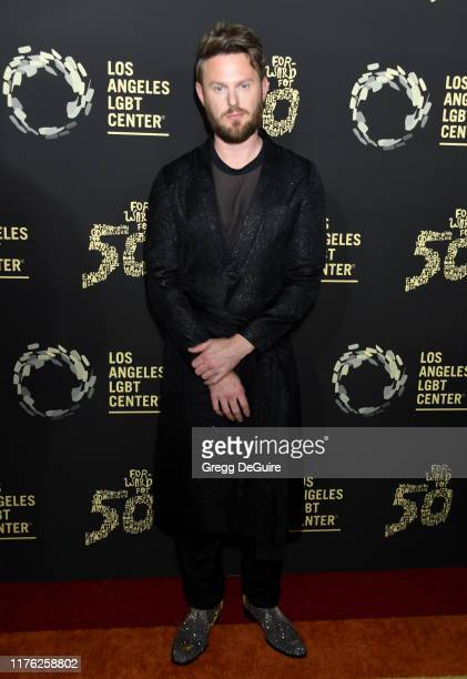 "Bobby Berk attends Los Angeles LGBT Center Celebrates 50th Anniversary With ""Hearts Of Gold"" Concert & Multimedia Extravaganza at The Greek Theatre..."