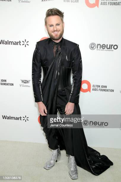 Bobby Berk attends the 28th Annual Elton John AIDS Foundation Academy Awards Viewing Party sponsored by IMDb, Neuro Drinks and Walmart on February...