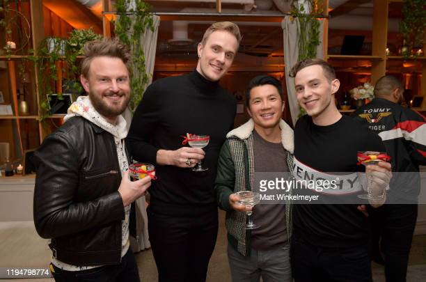 Bobby Berk, Jussi-Pekka Kajaala, Dewey Do and Adam Rippon celebrate Adam Rippon's 'Break The Ice' wrap party hosted by Ketel One Family Made Vodka...