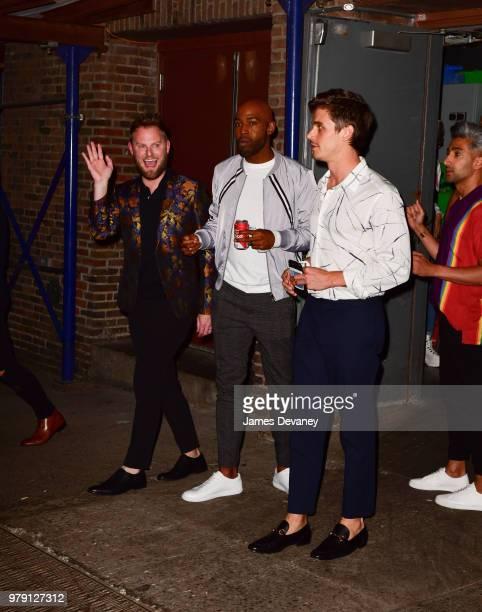 Bobby Berk Karamo Brown and Antoni Porowski leave 92nd Street Y on June 19 2018 in New York City