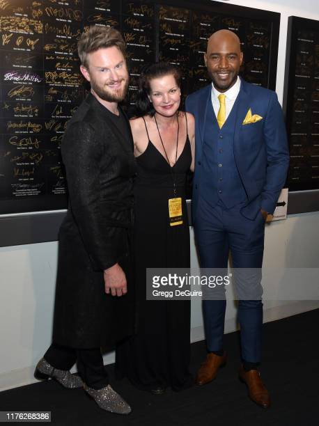 Bobby Berk Pauley Perrette and Karamo Brown attend Los Angeles LGBT Center Celebrates 50th Anniversary With Hearts Of Gold Concert Multimedia...