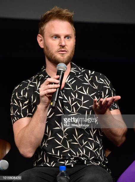 Bobby Berk speaks onstage during attends Netflix's Queer Eye and GLSEN event at NeueHouse Hollywood on August 12, 2018 in Hollywood, California.