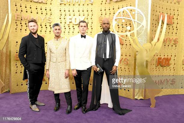Bobby Berk, Tan France, Antoni Porowski, and Karamo Brown attend the 71st Emmy Awards at Microsoft Theater on September 22, 2019 in Los Angeles,...