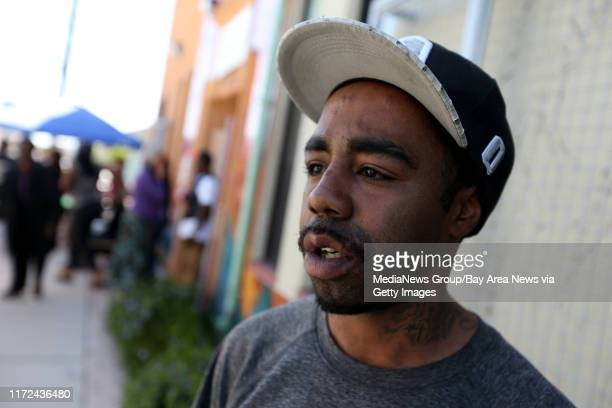 Bobby Bishop talks about losing everything including his home in a Monday fatal fouralarm fire at a San Pablo Avenue building in Oakland Calif on...
