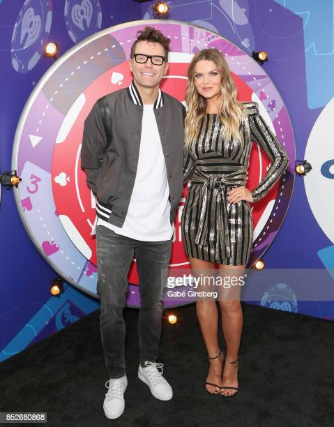Bobby Bones and Amy attend the 2017 iHeartRadio Music Festival at TMobile Arena on September 23 2017 in Las Vegas Nevada
