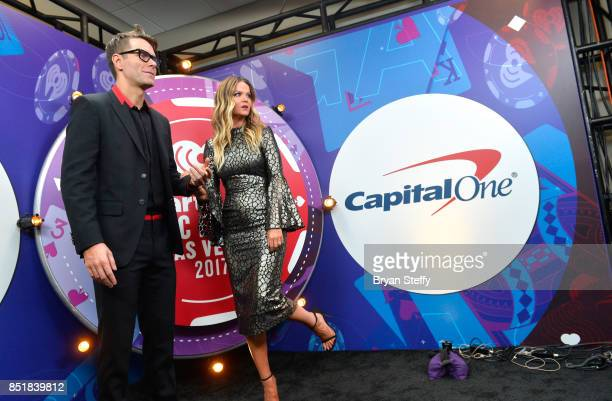 Bobby Bones and Amy Brown attend the 2017 iHeartRadio Music Festival at TMobile Arena on September 22 2017 in Las Vegas Nevada