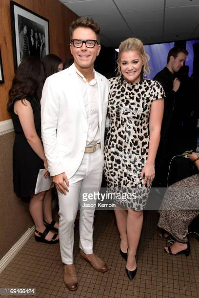 Bobby Bones and Lauren Alaina backstage at the 13th Annual ACM Honors at Ryman Auditorium on August 21 2019 in Nashville Tennessee