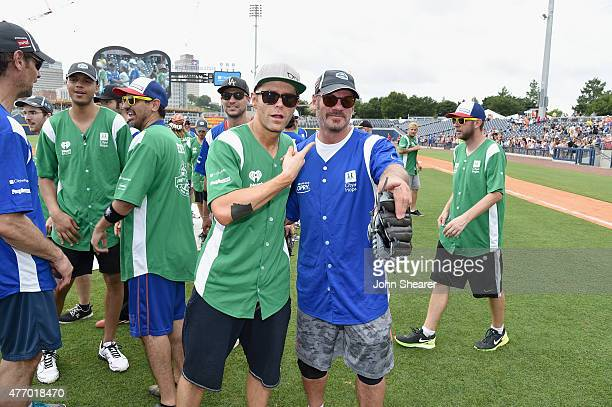 Bobby Bones and Phil Vassar steps up to strike out cancer at City of Hope's 25th Annual Celebrity Softball Game at First Tennessee Park on June 13...