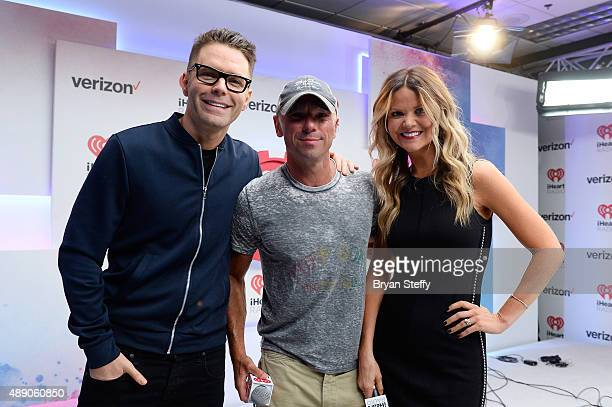 Bobby Bones Kenny Chesney and Amy attend the 2015 iHeartRadio Music Festival at MGM Grand Garden Arena on September 18 2015 in Las Vegas Nevada