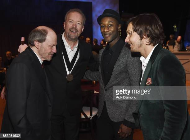 Bobby Braddock Don Schlitz Aloe Blacc and Charlie Worsham attend the Country Music Hall Of Fame And Museum Hosts Medallion Ceremony To Celebrate 2017...