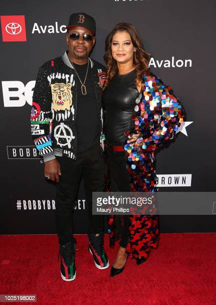 Bobby Brown and Alicia Etheredge arrive at the premiere screening of 'The Bobby Brown Story' presented by BET and Totota at Paramount Theater on the...