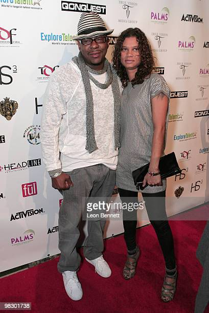 Bobby Brown and Alicia Etheredge arrives at Boulevard3 on April 6 2010 in Hollywood California