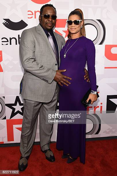 Bobby Brown and Alicia Etheredge attend the BET Networks 2016 Upfront at Rose Hall at Jazz at Lincoln Center on April 20 2016 in New York City