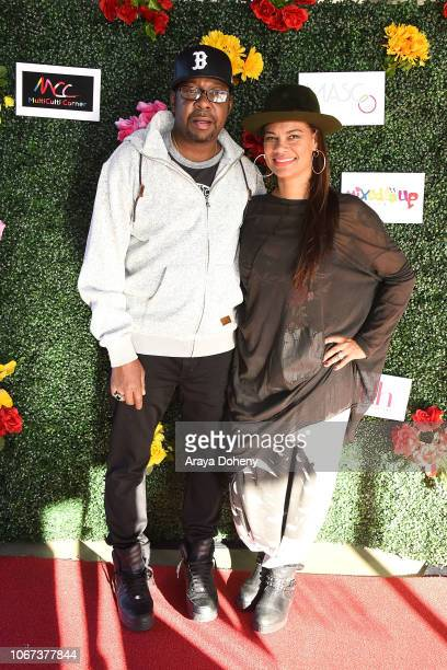Bobby Brown and Alicia Etheredge attend the Culture Friendship By Multiculti Corner Mixed Up Clothing Fashion Show on December 1 2018 in Marina del...