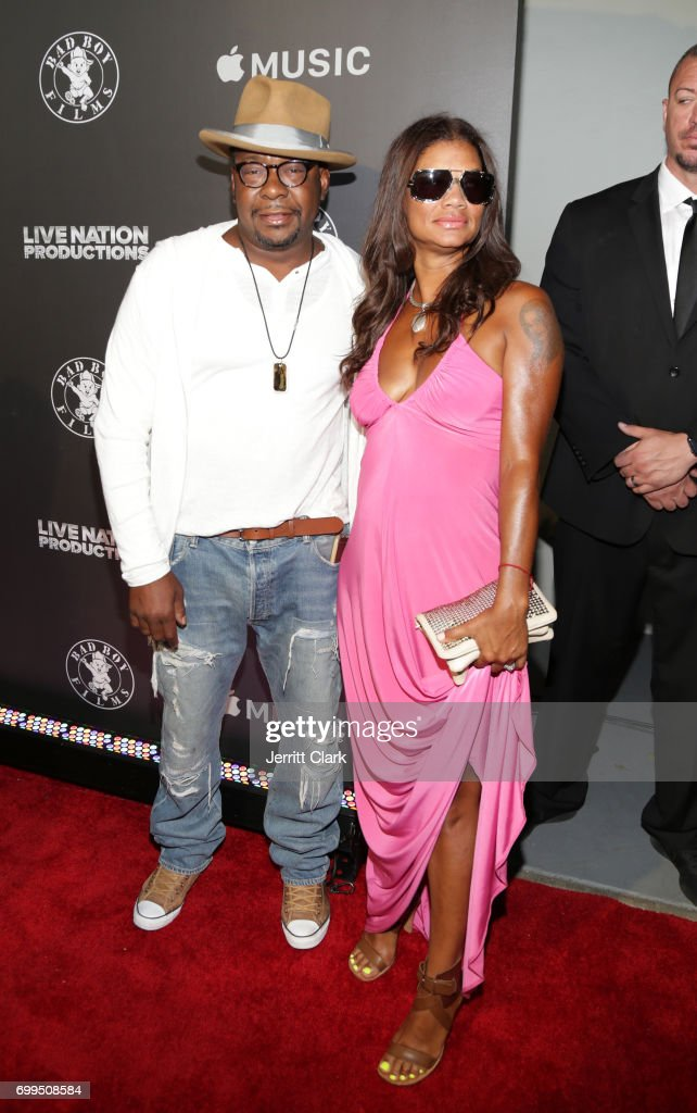 Bobby Brown and Alicia Etheredge attend the Los Angeles Premiere Of 'Can't Stop Won't Stop' at Writers Guild of America, West on June 21, 2017 in Los Angeles, California.
