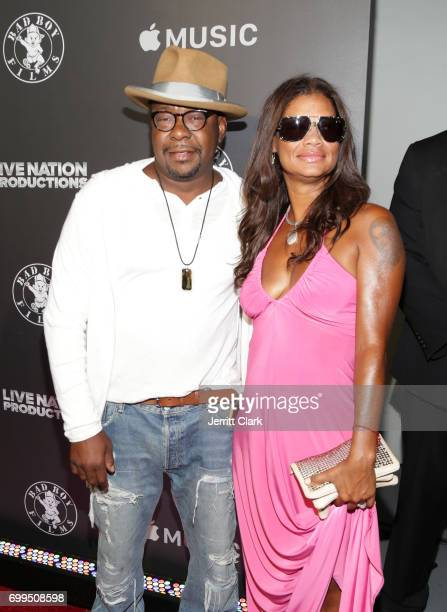 Bobby Brown and Alicia Etheredge attend the Los Angeles Premiere Of Can't Stop Won't Stop at Writers Guild of America West on June 21 2017 in Los...
