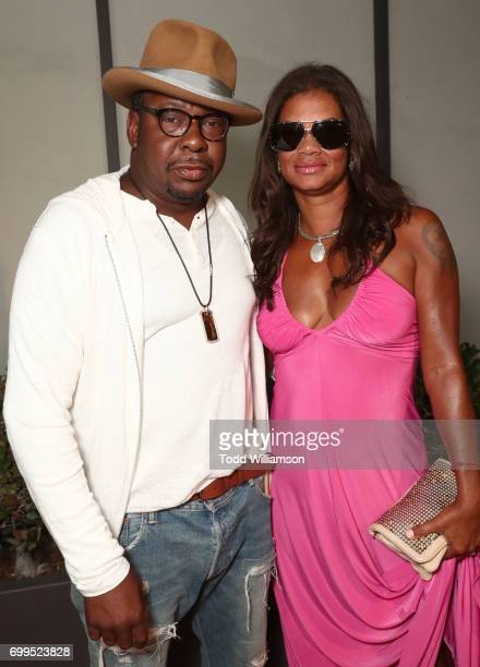 Bobby Brown and Alicia Etheredge attend the Los Angeles Premiere of Can't Stop Won't Stop at the Writers Guild of America West on June 21 2017 in Los...