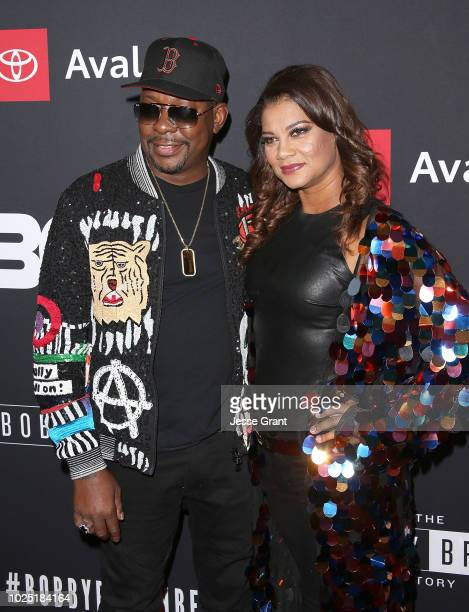 Bobby Brown and Alicia Etheredge attend the premiere screening of 'The Bobby Brown Story' presented by BET and Toyota at the Paramount Theatre on...