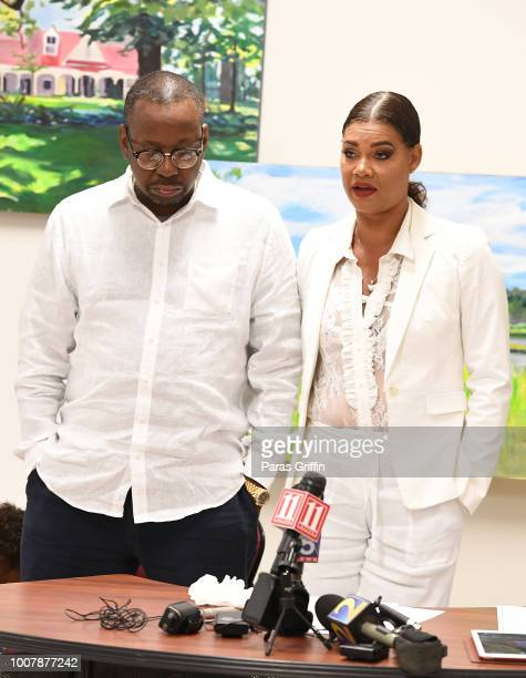 Bobby Brown and Alicia EtheredgeBrown attend Proclamation to Bobby Brown To Honor the 'Bobbi Kristina Serenity House' at South Fulton City Hall on...