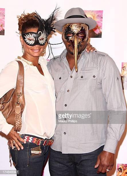 Bobby Brown and his wife Alicia Etheredge arrives at Kym Whitley's 40th Birthday Celebration at Rain Nightclub on July 23 2013 in Studio City...