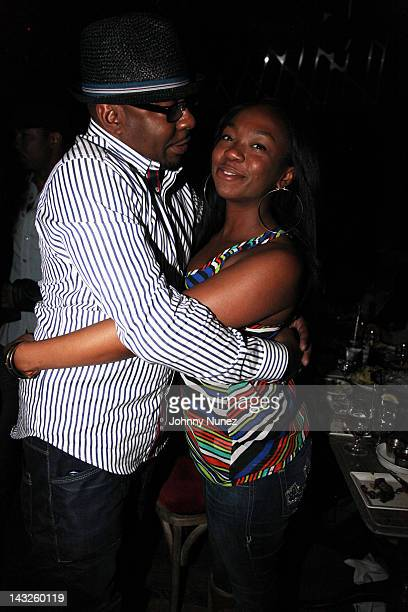 Bobby Brown and LaPrincia Brown attend a dinner at The Darby Restaurant on April 21 2012 in New York City