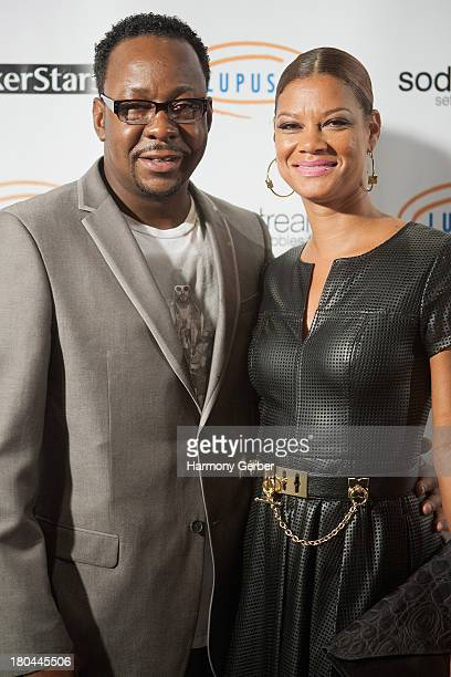 Bobby Brown and wife Alicia Etheredge attend the Get Lucky For Lupus LA event at Peterson Automotive Museum on September 12 2013 in Los Angeles...