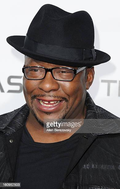 Bobby Brown attends WillIAm's Annual TRANS4M Concert Benefitting IAmAngel Foundation Red Carpet on February 7 2013 in Hollywood California