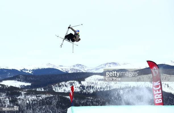 Bobby Brown competes in the men's ski Slopestyle Final during Day 4 of the Dew Tour on December 16 2017 in Breckenridge Colorado