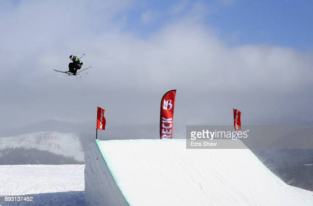 Bobby Brown competes in the Men's Ski Slopestyle qualifier during Day 2 of the Dew Tour on December 14 2017 in Breckenridge Colorado