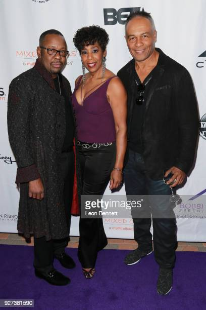 Bobby Brown, Dawnn Lewis and Ray Parker Jr. Attends Bobbi Kristina Serenity House Gala at Taglyan Cultural Complex on March 4, 2018 in Hollywood,...