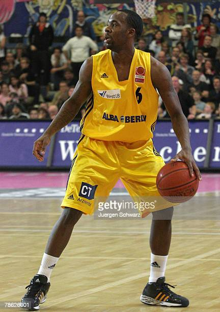 Bobby Brown of Berlin controls the ball during the Bundesliga match between Telekom Baskets Bonn and ALBA Berlin at the Hardtberg Halle on December...