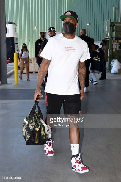 Bobby Brown of Team Ignite arrives before the game against the Salt Lake City Stars on February 26, 2021 at AdventHealth Arena in Orlando, Florida....