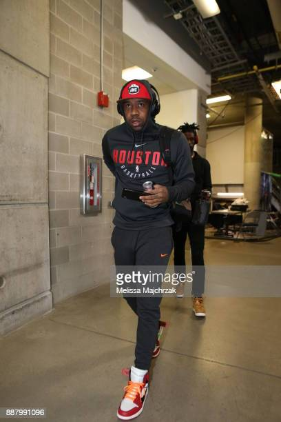 Bobby Brown of the Houston Rockets arrives to the arena prior to the game against the Utah Jazz on December 7 2017 at VivintSmartHome Arena in Salt...