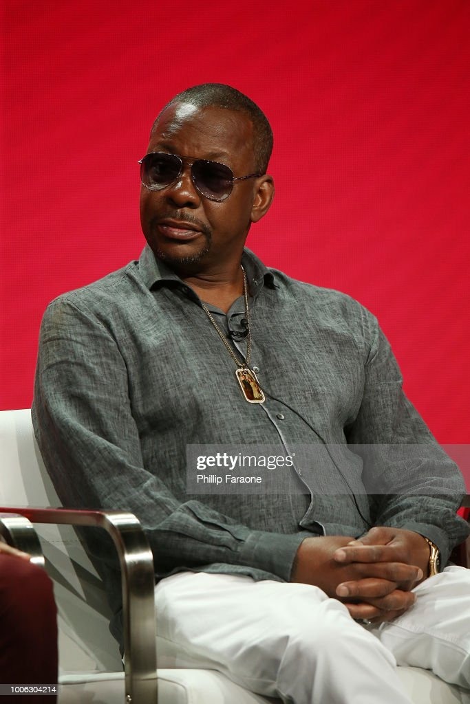 Bobby Brown of the television show 'The Bobby Brown Story' speak during the Viacom segment of the Summer 2018 Television Critics Association Press Tour at the Beverly Hilton Hotel on July 27, 2018 in Beverly Hills, California