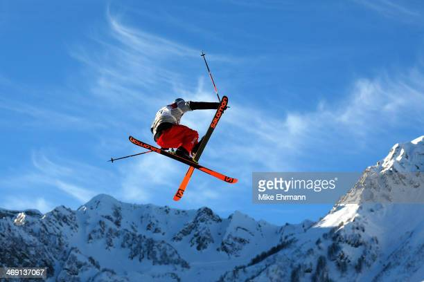 Bobby Brown of the United States competes in the Freestyle Skiing Men's Ski Slopestyle Qualification during day six of the Sochi 2014 Winter Olympics...