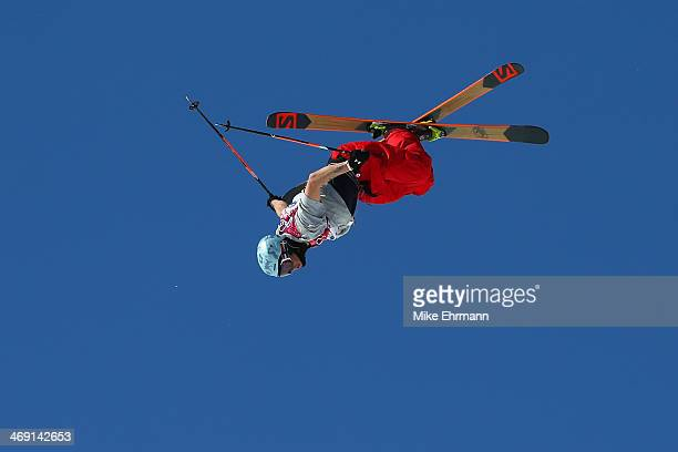 Bobby Brown of the United States competes in the Freestyle Skiing Men's Ski Slopestyle Finals during day six of the Sochi 2014 Winter Olympics at...