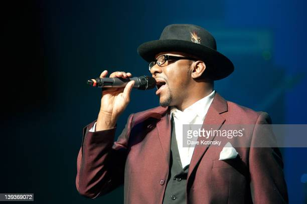 Bobby Brown performs at NJPAC Prudential Hall on February 19 2012 in Newark New Jersey