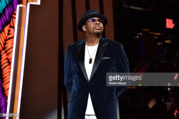 Bobby Brown speaks onstage at the 2018 BET Awards at Microsoft Theater on June 24 2018 in Los Angeles California