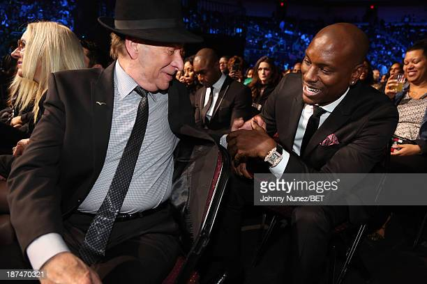 Bobby Caldwell and Tyrese Gibson attend the 2013 Soul Train Awards on November 8 2013 in Las Vegas Nevada